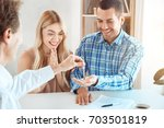 young couple rent apartment... | Shutterstock . vector #703501819