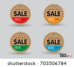 set of sale tags with. vector... | Shutterstock .eps vector #703506784