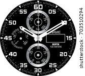 smart watch face h | Shutterstock .eps vector #703510294