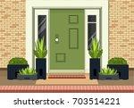 vector illustration of a facade ...   Shutterstock .eps vector #703514221