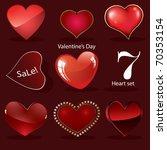 vector valentine's hearts set | Shutterstock .eps vector #70353154