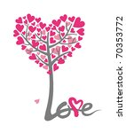 love tree for the valentines... | Shutterstock .eps vector #70353772