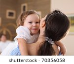 young mother with a little... | Shutterstock . vector #70356058