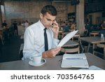 persons engaged in business... | Shutterstock . vector #703564765
