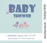 baby shower for newborn... | Shutterstock .eps vector #703567999
