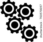 gear or cog icon on a white... | Shutterstock .eps vector #703570057