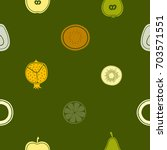 seamless pattern with fruit... | Shutterstock .eps vector #703571551