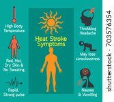 heat stroke infographic vector... | Shutterstock .eps vector #703576354