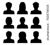 vector set of people icons... | Shutterstock .eps vector #703578535