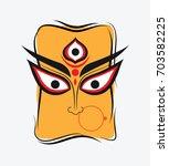 indian hindu religion goddess... | Shutterstock .eps vector #703582225