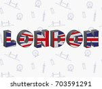 large letters london with the... | Shutterstock .eps vector #703591291