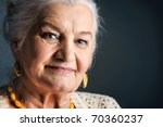 portrait of a smiling senior... | Shutterstock . vector #70360237