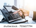 communication support  call... | Shutterstock . vector #703607794