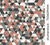 grunge style geometric pattern...   Shutterstock .eps vector #703609444