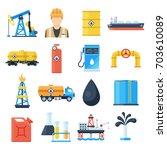 oil industry icon. petroleum... | Shutterstock .eps vector #703610089