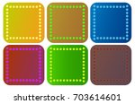 six different objects  which... | Shutterstock .eps vector #703614601