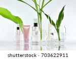 cosmetic bottle containers with ...   Shutterstock . vector #703622911