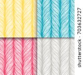 decorative hand drawn weaving... | Shutterstock .eps vector #703632727
