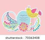 cute frame design for greeting... | Shutterstock .eps vector #70363408