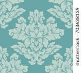 damask seamless pattern... | Shutterstock . vector #703638139