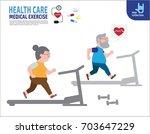 full length couple senior... | Shutterstock .eps vector #703647229
