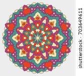 color mandala vector ethnic...   Shutterstock .eps vector #703649611