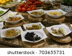salad bar | Shutterstock . vector #703655731