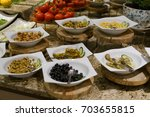 salad bar | Shutterstock . vector #703655815