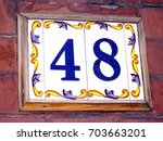 House Number 48  Ceramic...