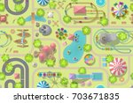 seamless pattern. amusement... | Shutterstock .eps vector #703671835