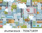 seamless pattern of the urban... | Shutterstock .eps vector #703671859