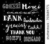 thank you in different... | Shutterstock .eps vector #703684771
