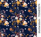 cute floral pattern in the... | Shutterstock .eps vector #703685074