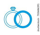 diamond ring icon | Shutterstock .eps vector #703686391