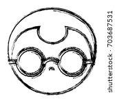 glasses accessory design | Shutterstock .eps vector #703687531