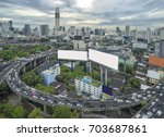 road traffic in city at... | Shutterstock . vector #703687861
