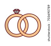 diamond ring icon   Shutterstock .eps vector #703690789