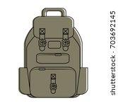 camping backpack   Shutterstock .eps vector #703692145