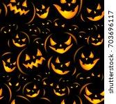 seamless halloween background... | Shutterstock .eps vector #703696117