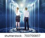 business man and business woman ... | Shutterstock . vector #703700857