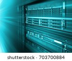 stand with server hardware and... | Shutterstock . vector #703700884