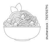 spaghetti dish icon | Shutterstock .eps vector #703703791