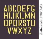stencil english alphabet. stamp ... | Shutterstock .eps vector #703710655