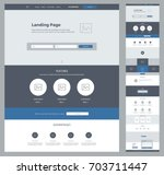 one page design template for...