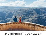 amazing view on the edge of the ... | Shutterstock . vector #703711819