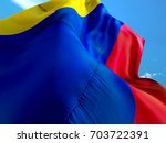 colombia flag. 3d waving flag... | Shutterstock . vector #703722391