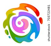 rainbow spiral on a white... | Shutterstock .eps vector #703722481