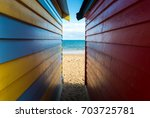 the sea look through from the...   Shutterstock . vector #703725781