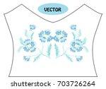decorative cornflowers in...   Shutterstock .eps vector #703726264