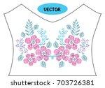 decorative flowers in...   Shutterstock .eps vector #703726381